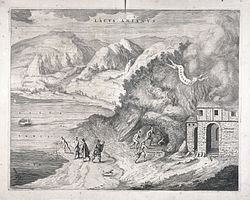 The lake of Agnano. Etching, 16--. Wellcome L0038338.jpg