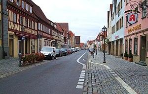 Haßfurt - The main street in Hassfurt.