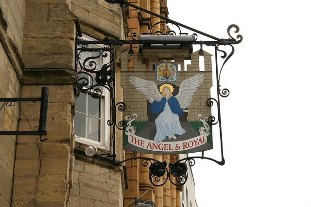 The sign of the Angel and Royal - geograph.org.uk - 1044228