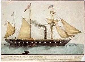 SS President - Image: The steam ship President