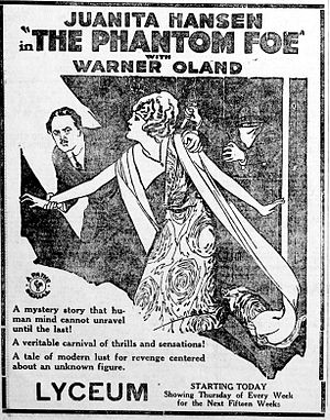 The Phantom Foe - Newspaper ad for the serial