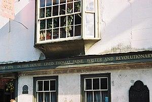 Thomas Paine's Lewes home.