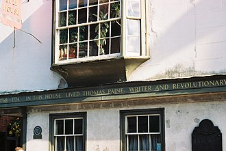 Thomas Paine - Thomas Paine's house in Lewes