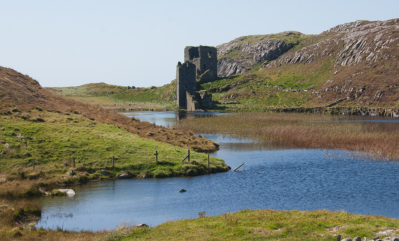 Dunlough Castle from across the water