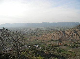 Thuraiyur - A view from Thuraiyur Perumal malai (hill)