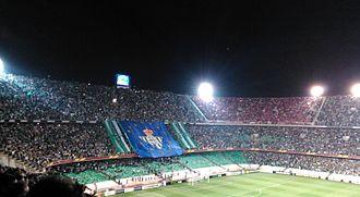 Estadio Benito Villamarín - Image: Tifo europeo en un derbi Estadio Benito Villamarin