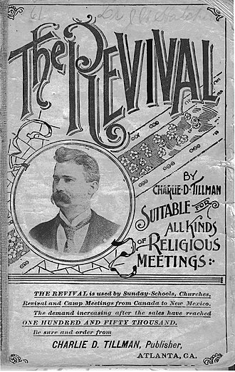 Charles Davis Tillman - Print of Tillman's photograph on the title page of Revival No. 2, published in 1896