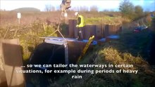 File:Tilting weir installation - Gwent Levels.webm