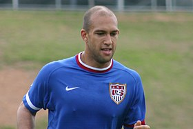 Tim Howard training for the U.S. team