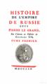 Title page Voltaire Histoire de l'empire de Russie.png