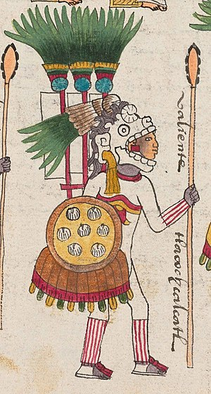 Aztec Empire - A tlacochcalcatl pictured in the Codex Mendoza