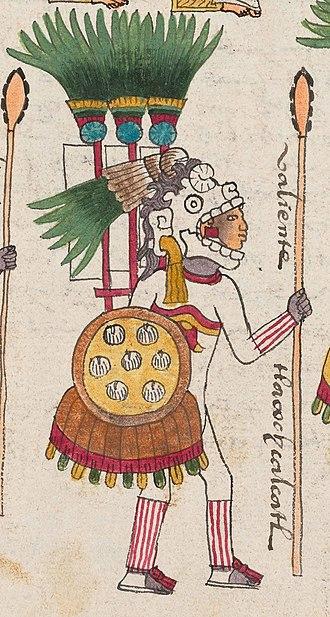 Tlacaelel - Tlacaelel was a tlacochcalcatl. Picture from Codex Mendoza.