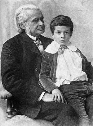 Julian Huxley - T. H. Huxley with Julian in 1893
