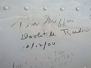 "Tom Griffin's signature on the ""Axis Nightmare"""