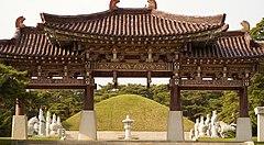Tomb of King Dongmyeong of Goguryeo in Pyongyang.jpg