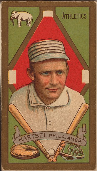 Topsy Hartsel - Image: Topsy Hartsel baseball card