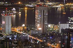 Toshiba Corporation at night.jpg
