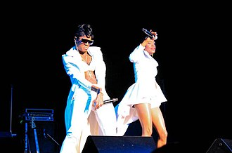 Total (girl group) - L-R: Pamela Long and Kima Raynor Dyson perform at the Legends of Bad Boy concert in Beverly Hills, California in 2014. Not pictured: Keisha Spivey Epps.