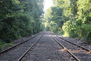 Forest Park (Queens) - Train tracks, LIRR. Located in Forest Park,Richmond Hill, Queens,NY.