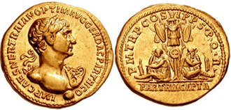 Trajan's Parthian campaign - Aureus issued by Trajan to celebrate the conquest of Parthia