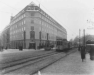Drammensveien street in Oslo, Norway