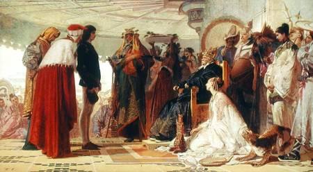 Tranquillo da cremona, Marco Polo alla Corte del Gran Khan, 1863