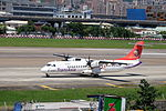 TransAsia Airways ATR 72-212A B-22820 Taxiing at Taipei Songshan Airport 20150908a.jpg