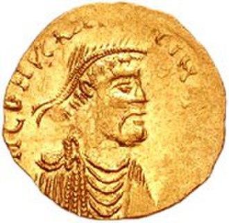 Constans II - A tremissis coin of Constans II Pogonatos