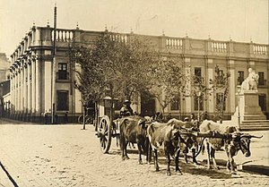 Museo Chileno de Arte Precolombino - Photo taken in 1900 of the museum's building, the Palacio de la Real Aduana