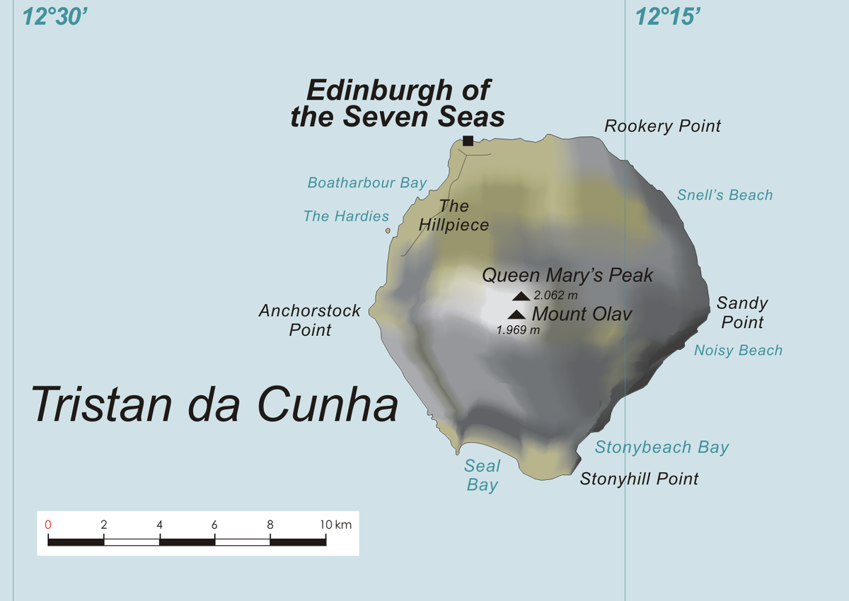 Px Tristan Main Island Map