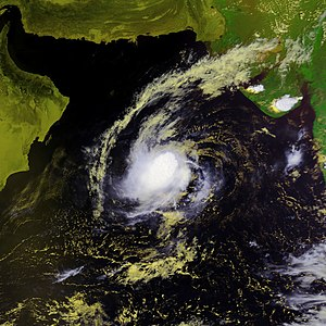 2001 North Indian Ocean cyclone season - Image: Tropical Cyclone 02A 26 sept 2001 0934Z