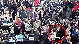 Corey Lewandowski - Capture from a police video showing Lewandowski, while working as Donald Trump's campaign manager, grabbing the arm of Michelle Fields, a former Breitbart reporter.