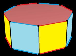 Octagonal prism - Image: Truncated square prism