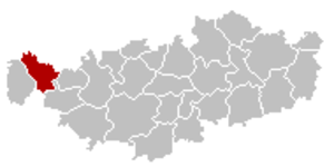 Tubize - Image: Tubize Brabant Wallon Belgium Map