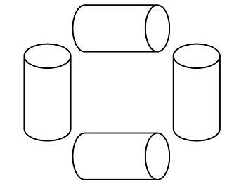 Español: Tubos que representan agujeros de gusano.