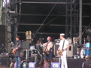 Turbonegro - Turbonegro playing at the Southside Festival in 2005.