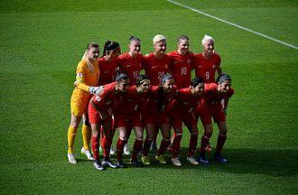 Turkey women's national football team - Turkey women's national football team in the home match against Germany on April 8, 2016: Akgöz (1), Nurlu (7), Topçu (16), Yağ (20), Pekel(10), Erol (9), Demir (18), Tezkan (4), Güvenç (3), Korkmaz (8), Kaya (17).