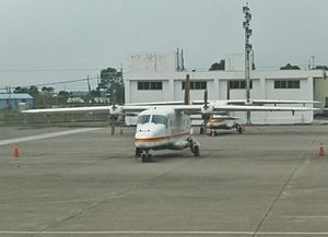 Two Daily Air Do 228s at Taitung Airport Apron 20120324.jpg