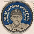 Ty Cobb, Detroit Tigers (blue), from the Domino Discs series (PX7), issued by Kinney Brothers MET DP869254.jpg