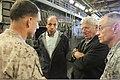 U.S. Marine Corps Col. Frank Donovan, left, the 24th Marine Expeditionary Unit (MEU) commanding officer, discusses the amphibious capabilities of his MEU with U.S. Ambassador to Morocco Sam Kaplan, second from 120416-M-FR139-012.jpg