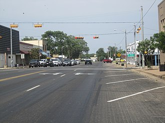 U.S. Route 79 - US 79 is the main street of Rockdale in Milam County, Texas.