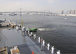 U.S. Sailors man the rails as the U.S. 7th Fleet command ship USS Blue Ridge (LCC 19) arrives in Tokyo for a port visit Sept. 2, 2013 130902-N-OK605-019.jpg
