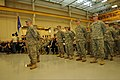 U.S. Soldiers with the 3rd Battalion, 238th General Support Aviation Battalion, Delaware Army National Guard say their goodbyes to friends and family during a ceremony in New Castle, Del., Nov. 8, 2013, before 131208-Z-GL773-733.jpg