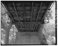 UNDERSIDE FROM NE. - Sycamore Creek Bridge, Spanning Sycamore Creek at County Route 288, Hamilton, Hamilton County, TX HAER TX,97-HAMIL.V,2-7.tif