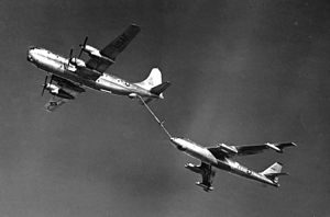 817th Air Division - KC-97 refueling a B-47