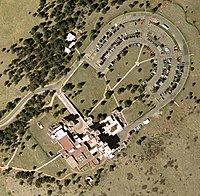 Aerial view of the lab site
