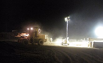 Light tower (equipment) - light towers in use by U.S. Marine Corps for construction