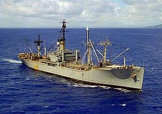 Auxiliary ship - American cargo ship USNS ''Furman'', 1981