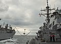 USS Fitzgerald conducts a replenishment at sea with USNS Carl Brashear 160319-N-GW139-142.jpg