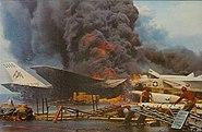 USS Forrestal fire RA-5Cs burning 1967